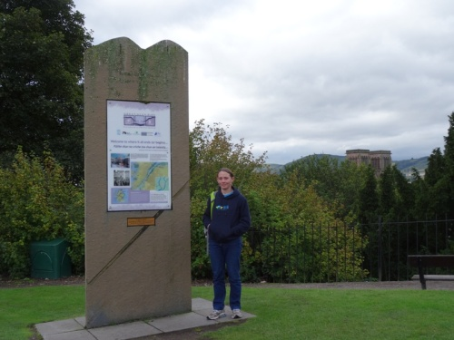 I accidentally found the end of the Great Glen Way. Luckily there was a handy post to rest my camera on for a good selfie!