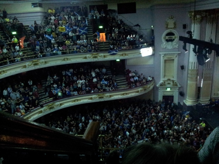 Usher Hall, filling up with very passionate Scots.
