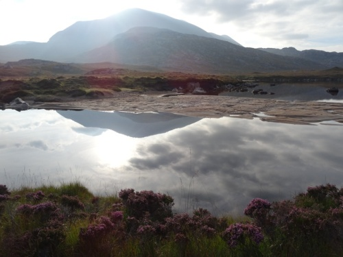 Foinaven, reflected in Loch na Claise Carnaich
