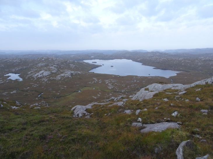 One of my rest stops (looking west at Loch na Claise Carnaich)