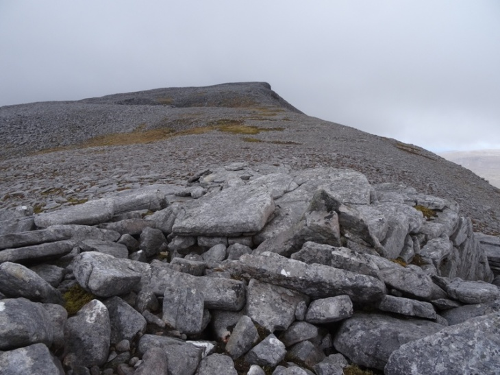 From Carn na Righ, looking up towards the summit of Spionnaidh