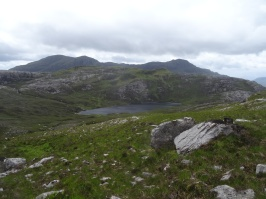 This is the same loch as the lower one in the previous panorama photo, but from the other side. The other photo was taken on the previous day from the ridge on the top right (not the far top right... just the middle ground)